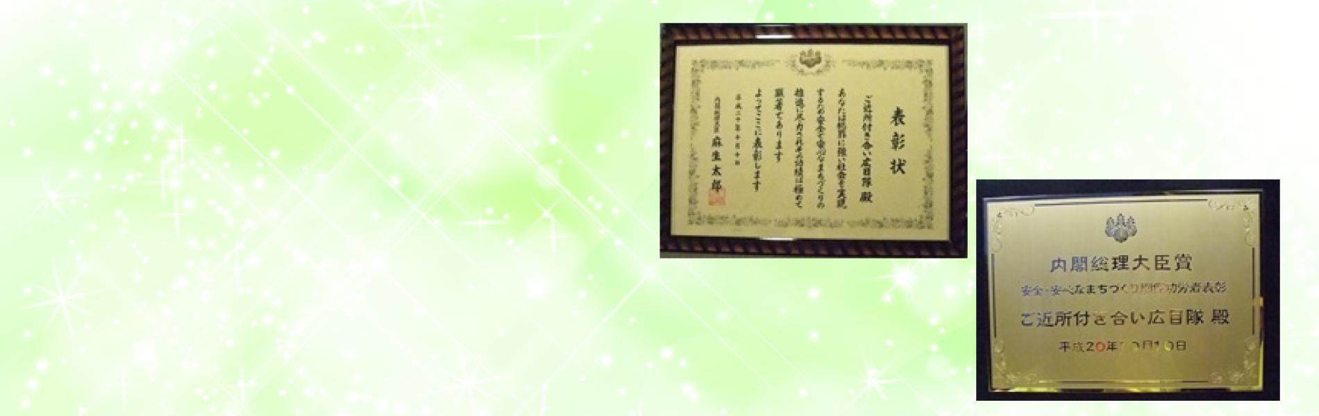 内閣総理大臣賞受賞
